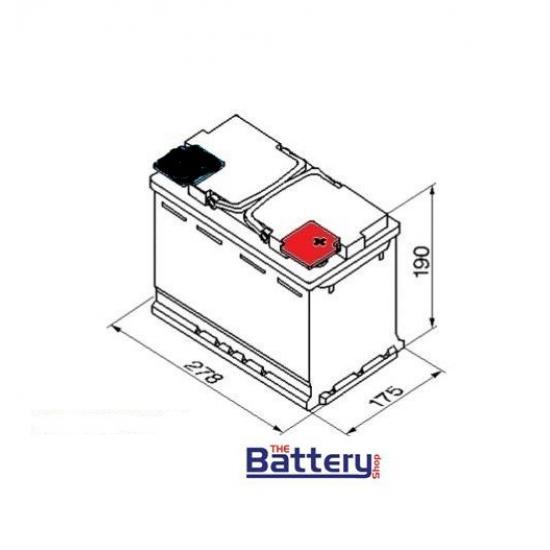 Μπαταρία αυτοκινήτου MITSUBA EFB70 , START  STOP 70Ah