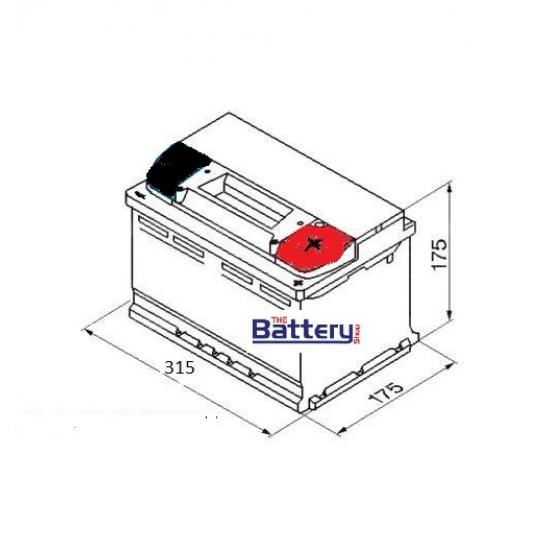 Μπαταρία EXIDE EA852 Premium, 85Ah 800cca