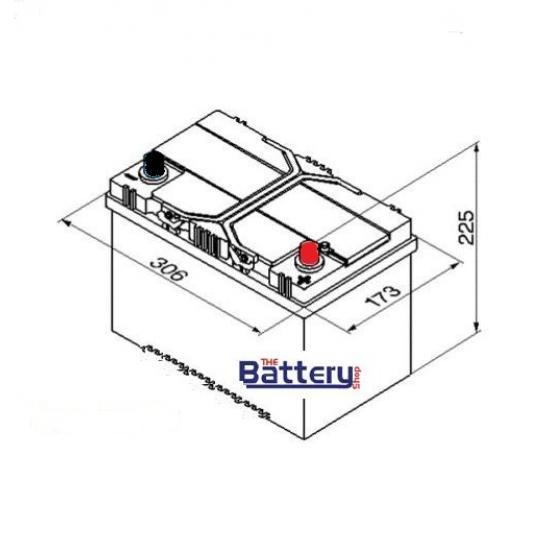 Μπαταρία βαθειάς εκφόρτισης WECTOR  S100 ,  SOLAR ,100Ah.