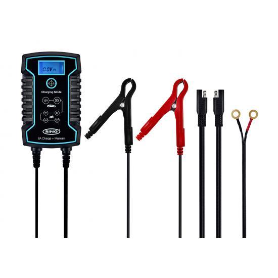 Φορτιστής-συντηρητής  μπαταριών RING 808 , 8A,12V-24V