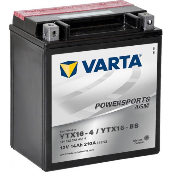 Μπαταρία  VARTA μοτοσυκλέτας ,YTX16-BS  14AH