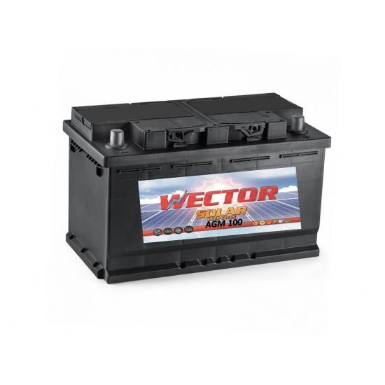 Μπαταρία βαθειάς εκφόρτισης WECTOR AGM100  ,SOLAR - φωτοβολταϊκού ,100Ah