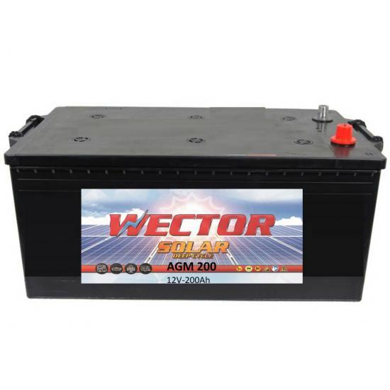 Μπαταρία βαθειάς εκφόρτισης WECTOR AGM 200  ,SOLAR - φωτοβολταϊκού ,200Ah