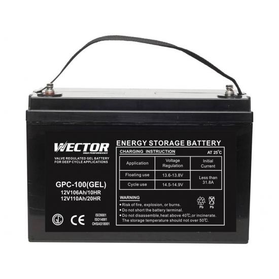 Μπαταρία  WECTOR  GEL GPC-100 , 12V 110ah (c20)  βαθειάς εκφόρτισης