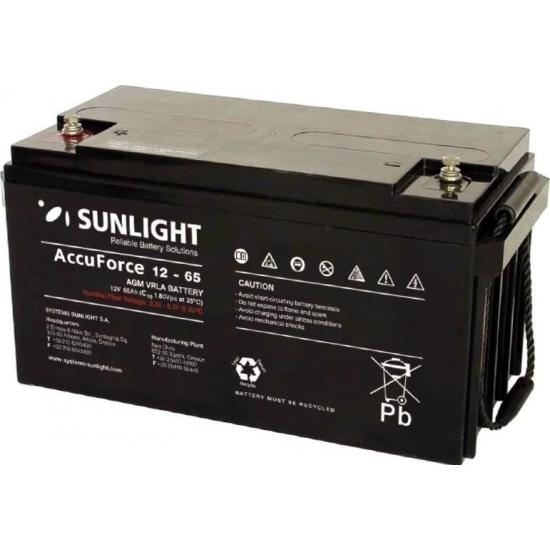 Μπαταρία  SUNLIGHT AccuForce  65ah, 12V 65Ah